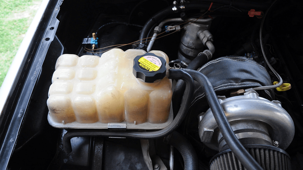 engine coolant reservoir